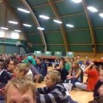 Eleverna i publiken
